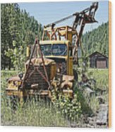 Logging Truck - Burke Idaho Ghost Town Wood Print