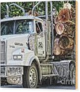 Logging Truck Wood Print