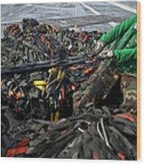 Logistics Specialist Wraps Cargo Nets Wood Print