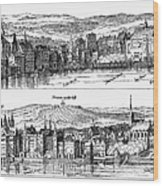London, 16th Century Wood Print