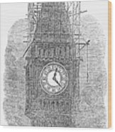 London: Big Ben, 1856 Wood Print
