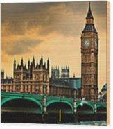 London - Big Ben And Parliament Wood Print