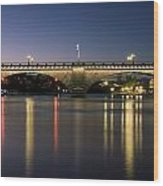 London Bridge At Dusk Wood Print