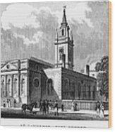 London: Church, C1830 Wood Print