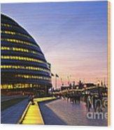 London City Hall At Night Wood Print
