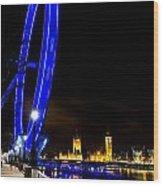 London Eye And London View Wood Print