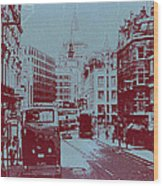 London Fleet Street Wood Print