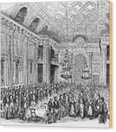 London: Freemasons Hall Wood Print