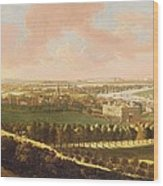 London From Greenwich Hill Wood Print