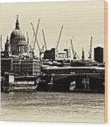 London From The Southbank Wood Print
