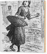 London: Match-girl Wood Print