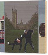 London Matrix Triptych Wood Print