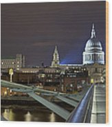 London Millennium Bridge Wood Print