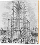 London: Nelson Column, 1845 Wood Print