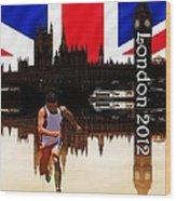 London Olympics Wood Print by Sharon Lisa Clarke