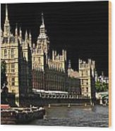 London Parliament Wood Print