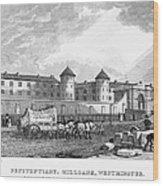 London: Prison, 1829 Wood Print