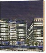 London Riverside Wood Print