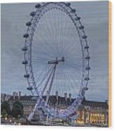 London Skyline Edf Eye Wood Print