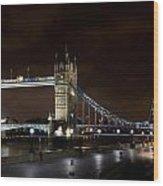 London Southbank View Wood Print