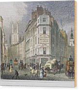 London: Street Scene, 1830 Wood Print