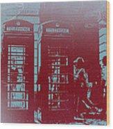 London Telephone Booth Wood Print