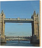 London Tower Bridge Looking Magnificent In The Setting Sun Wood Print