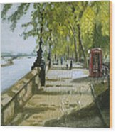 London Westminster Embankment Wood Print