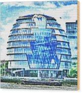 London's City Hall Wood Print
