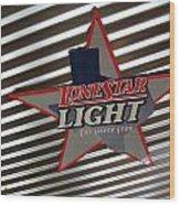 Lone Star Beer Light Wood Print