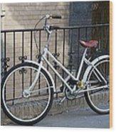 Lonely Bike Wood Print