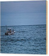 Lonely Boat Wood Print
