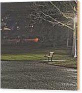 Lonely Walkway Wood Print