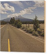 Lonesome Hiway To Shasta Wood Print