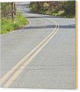 Long And Winding Road Wood Print