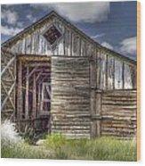 Long Barn Wood Print