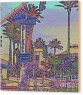 Long Beach Pike Wood Print