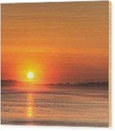 Long Beach Sunset Wood Print