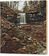 Long Canyon Waterfall Wood Print