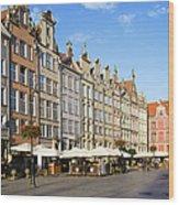 Long Market In Gdansk Wood Print