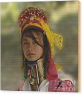 Long Neck Beauty Karen Tribe Wood Print