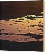 Long Reef Golden Pond Wood Print