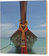 Long Tail Boat Thailand Wood Print