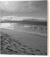 Long View To Sun Setting Wood Print