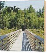 Long Walk Wood Print