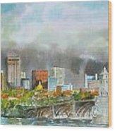 Longfellow Bridge Boston Wood Print