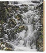 Longfellow Grist Mill Waterfall Wood Print