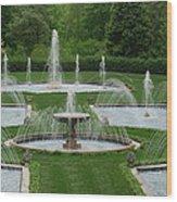 Longwood Fountains 3 Wood Print