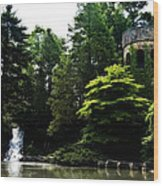 Longwood Garden Castle Wood Print