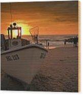 Lonstrup Sunset Wood Print